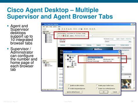 agent cisco desktop unified supervisor express overview center contact ppt powerpoint presentation