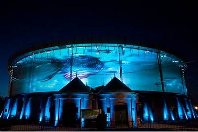 Projection 3d Mapping Circular Building Technology Spectacular