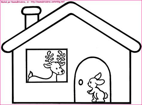 dans sa maison un grand cerf coloriage pour illustr 233 la comptine comptines
