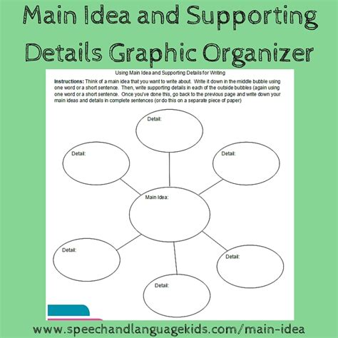 idea and supporting details worksheet resultinfos