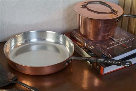 copper saute pans hand forged carbon steel northwest skillet company