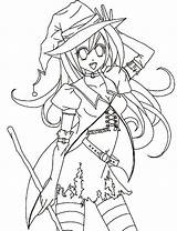 Coloring Anime Halloween Pages Template Colouring Coloringsky Sheet Drawing Google Pdf Drawings sketch template