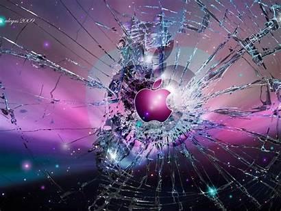 Screen Broken Cracked Wallpapers Apple Background Realistic