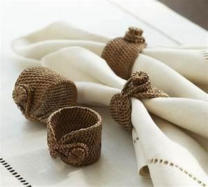 Serviette De Table Tissu Pas Cher : cr ez vous m mes le meilleur rond de serviette de no l ~ Teatrodelosmanantiales.com Idées de Décoration