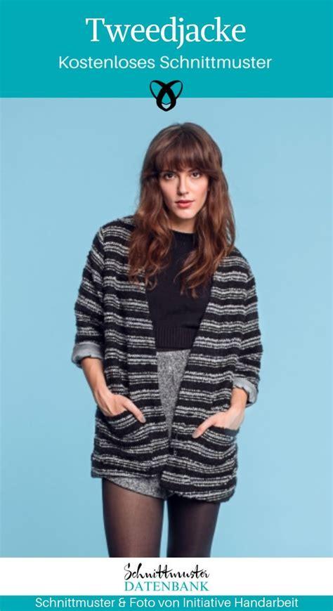 lockere tweedjacke noch keine bewertung diy n 228 hen schnittmuster damen tweed jacken und