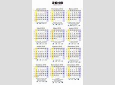 Calendário 2016 com Fases da Lua