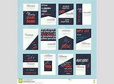 Motivation Quotes Calendar 2017 Stock Vector Image 77295320