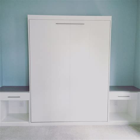 White Murphy Bed by One Of A Murphy Bed Images More Space Place Mt