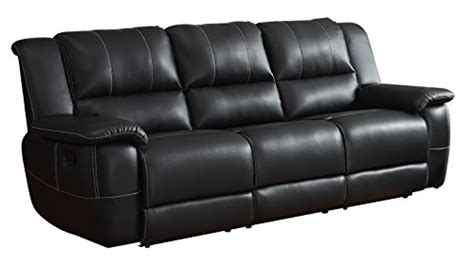 homelegance reclining sofa reviews product reviews buy homelegance bonded leather black