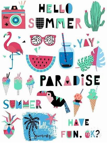 Printable Scrapbook Stickers Summer Diy Designs Paper