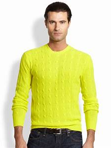 Polo ralph lauren Cable-knit Cashmere Sweater in Yellow ...