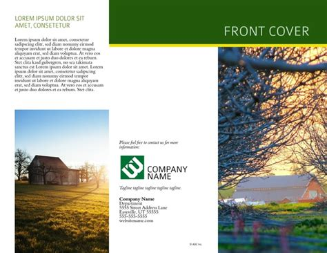 Country Brochure Template by Free Brochure Templates Exles 20 Free Templates