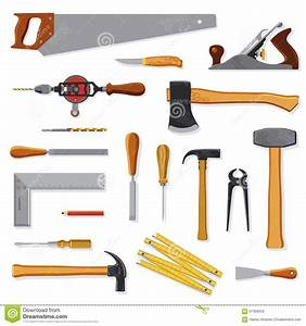 Tools Of Carpenter - Vector Cartoon Vector CartoonDealer