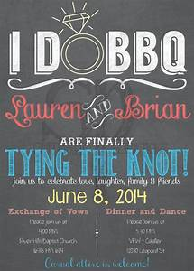 i do bbq wedding invitation chalkboard or burlap print With i do bbq wedding invitations templates