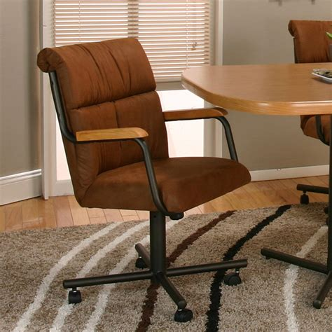 cramco  landon dining arm chair  casters