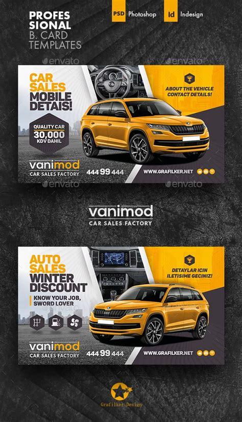 car sales business card templates car advertising design