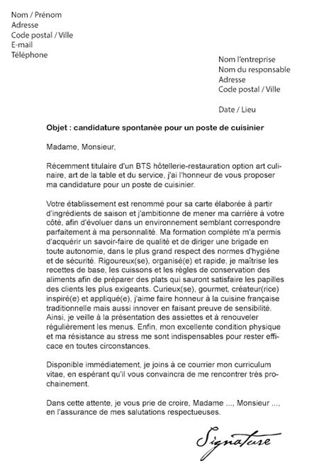 lettre de motivation chef de cuisine en restauration collective lettre de motivation cuisinier lettre de motivation 2018