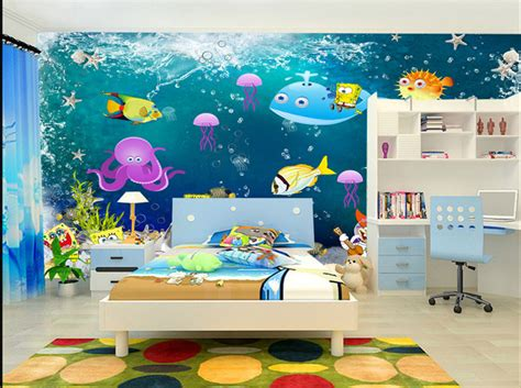 papier peint chambre enfants papier peint fond marin chambre d 39 enfant sur mesure