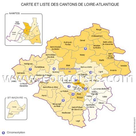 carte des anciens cantons de la loire atlantique