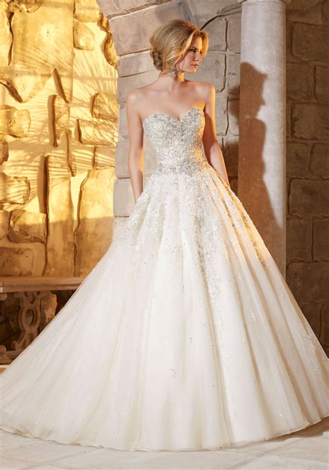 morilee wedding dress intricate beading on tulle wedding dress style 2791