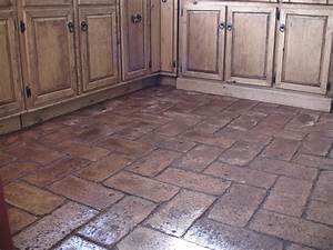 Cheap and easy earth block floors make for Cost of brick flooring