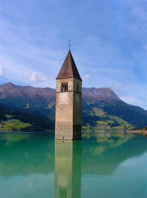 italy reschensee reschen lake tyrol south amazing places bell tower church northern visit amazingplacesonearth lakes submerged famous natural europe december