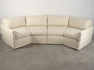 Mid century slipcovered thayer coggin style sectional sofa for Vintage sectional sofa craigslist