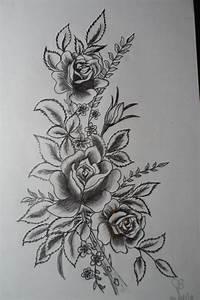 Dessin De Plume Facile : bouquet de roses au crayon plomb fleurs dessin de fleurs au crayon tatouage rose et tatouage ~ Melissatoandfro.com Idées de Décoration