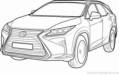 Lexus Coloring Rx Printable Carscoloringpages101 Pdf Template