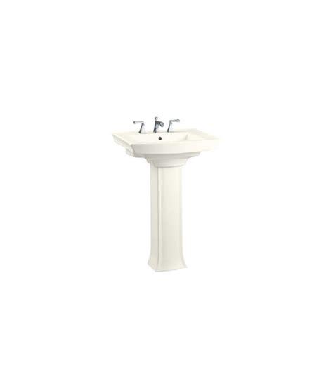 Kohler Archer 24 Pedestal Sink by Faucet K 2359 1 47 In Almond By Kohler