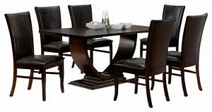 7-Piece Isabella Collection Espresso Dining Table Set