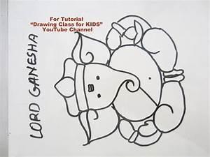 How to Draw- Easy Cute Lord Ganesha Ganpati Step by Step ...