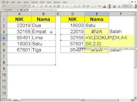 contoh database exel id