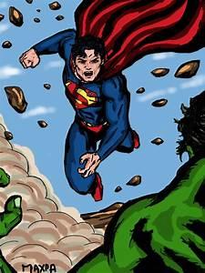 Superman vs Hulk - New version by maxpa27 on DeviantArt