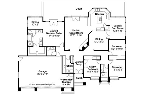 southwest house plans southwest house plans cibola 10 202 associated designs
