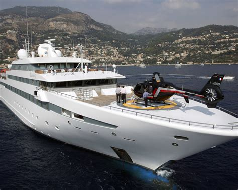Yacht With Helipad by Charter Guests Arrive From Superyacht L S
