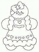 Coloring Pages Christmas Gingerbread Popular sketch template