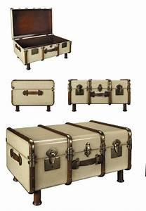 Table Basse Malle : malle de voyage bar ou bureau authentic models antan et ~ Melissatoandfro.com Idées de Décoration