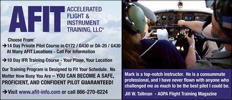 afit accelerated flight instrument training announces