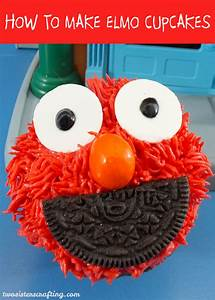 How to Make Elmo Cupcakes - Two Sisters