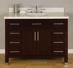 42 inch single sink modern dark cherry bathroom vanity