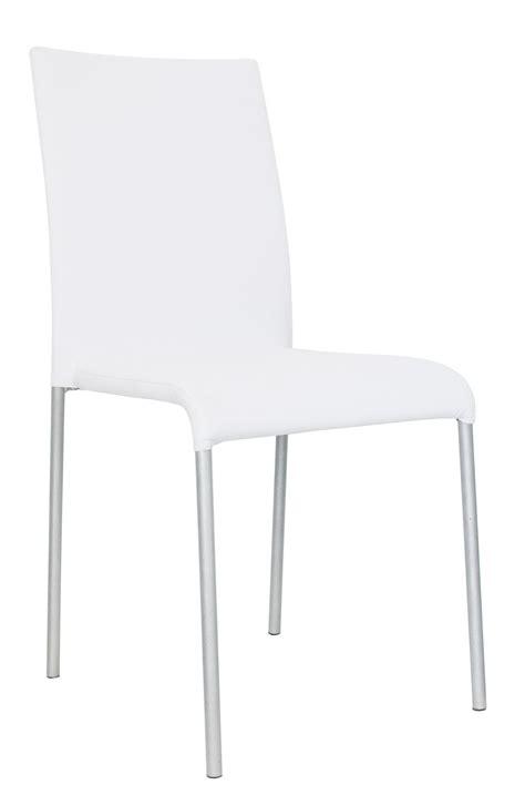 chaise de designer chaise design métal tissu blanc lot de 6 krissy