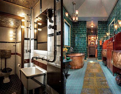 bathroom designs  steampunk bathroom decor ideas