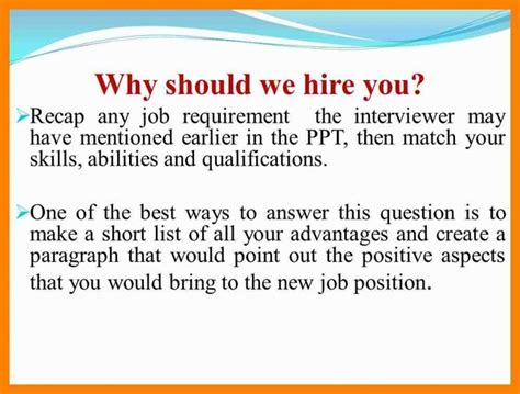 What Do You Do For Answers by Why Should We Hire You In Bpo Quora