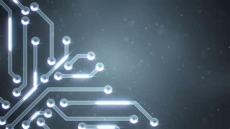 Dark Blue Circuit Board Electronic Tech Beautiful Chip