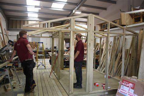 cedar tiled garden studio  wooden workshop oakford