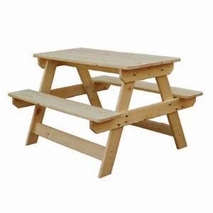 Table Enfant Bois : table pique nique enfant en bois rockall 85 x 75 cm castorama ~ Teatrodelosmanantiales.com Idées de Décoration