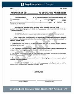 amendment to an llc operating agreement create download With operating agreement amendment template