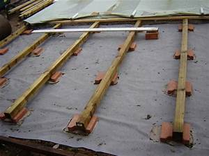 nivremcom pose de terrasse bois sur lambourde With pose de lambourde pour terrasse
