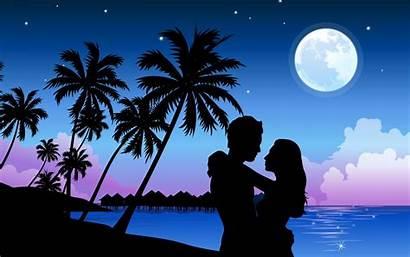 Romantic Beach Paradise Powerpoint Backgrounds Background Valentine